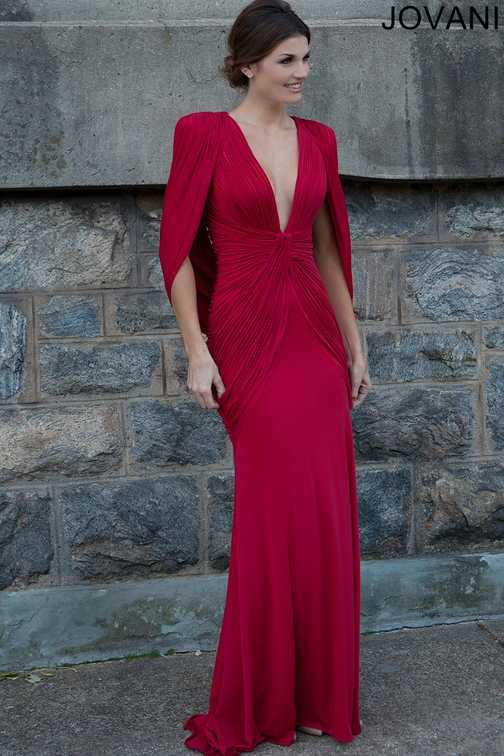 70ecef5481b9 Jovani Red Evening Gown