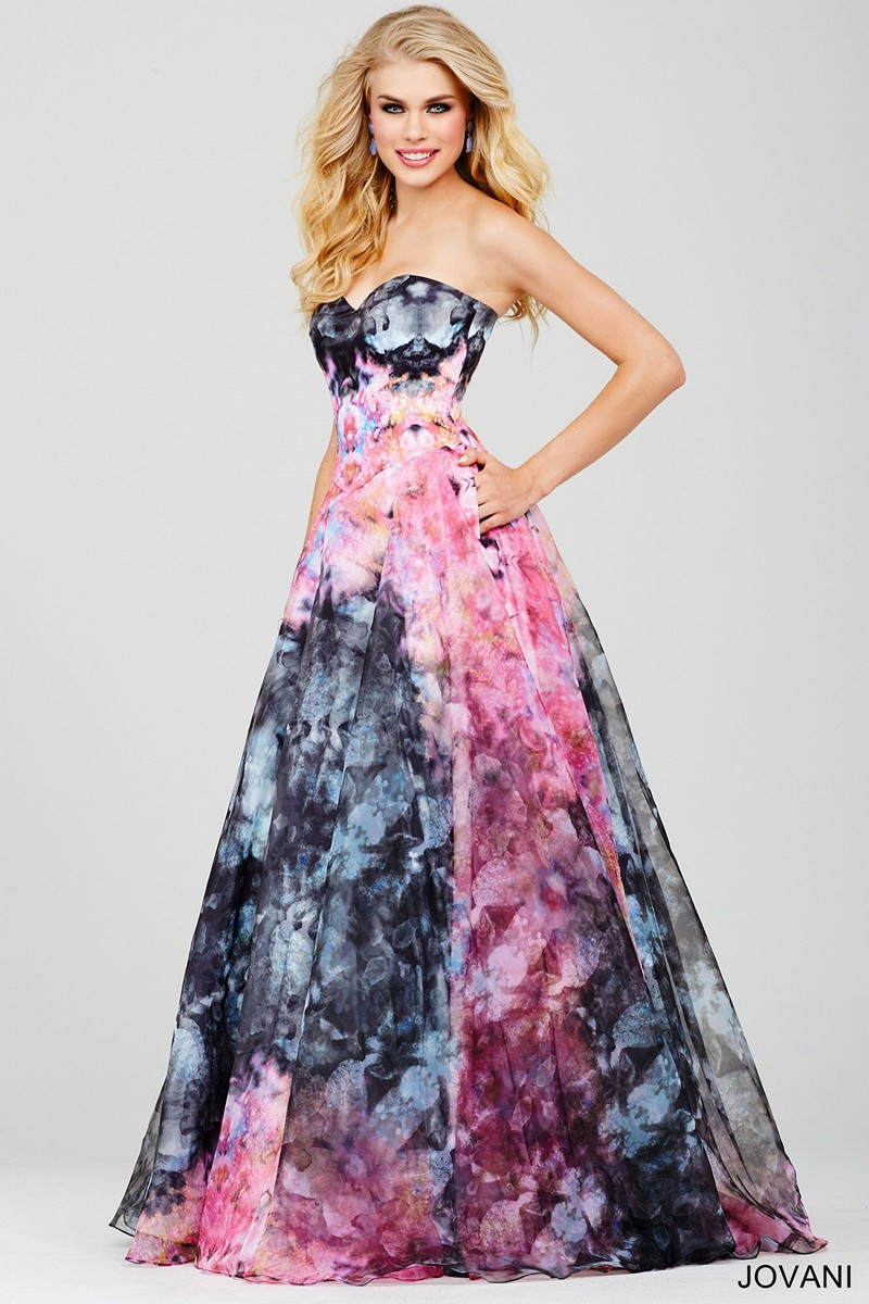 0e724b8761 Jovani 33499 Tie Dye Prom Dress