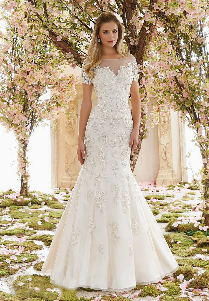 47b4ccceeb8f Mori Lee Tulle Mermaid Wedding Dress - raveitsafe